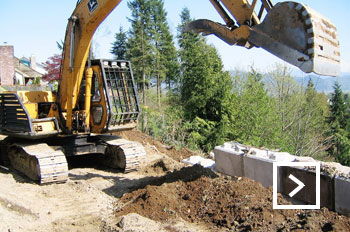 Road and driveway retaining walls Mission Abbotsford